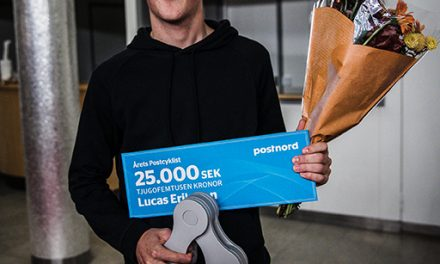 Årets Postcyklister 2018 – Lucas Eriksson och Emilia Fahlin